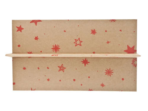 2 Bottle Divider Insert for Small General Gift Box - Kraft Stars | MeridianSP