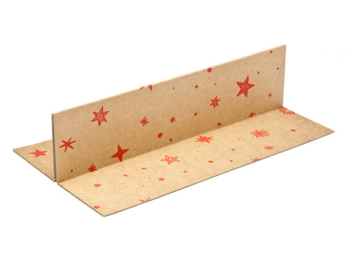 Kraft Stars 2 Bottle sized Divider Insert for Small General Gift Box - Gift Box - Larger Size - 2 Bottle Divider Ideal for Christmas or Gifting occasions