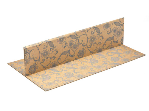 Kraft Floral 2 Bottle sized Divider Insert for Small General Gift Box - Gift Box - Larger Size - 2 Bottle Divider Ideal for Christmas or Gifting occasions