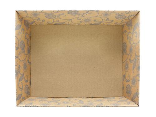 Medium Card Tray Hamper - Kraft Floral | MeridianSP