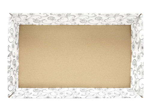 Large Card Tray Hamper - White with Floral Pattern | MeridianSP