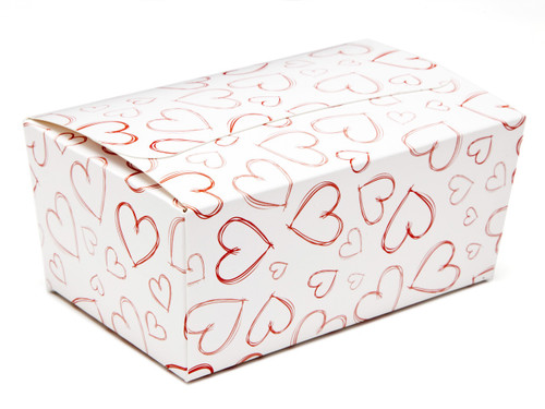 Light Hearts 375g sized Ballotin - Gift Carton Ideal for Valentine's occasions or wedding or gifting