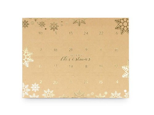 Premium Light Advent Calendar - Kraft with Gold Snowflake | MeridianSP