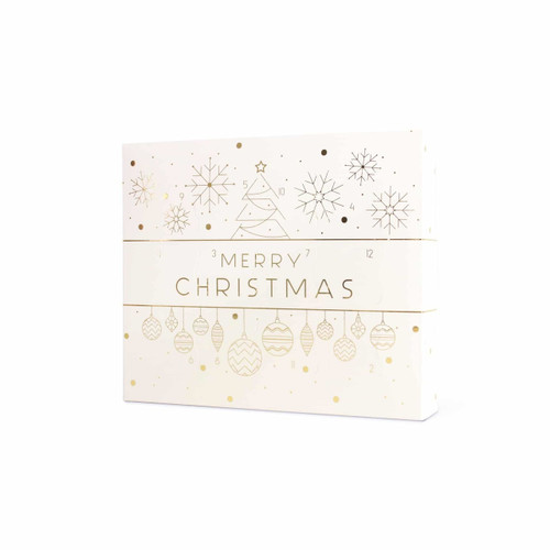 12 Day Self Fill Christmas Advent Calendar White Bauble
