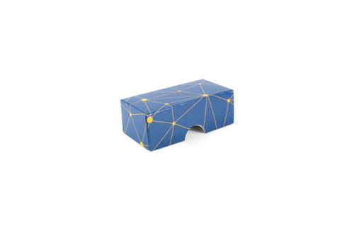 2 Choc Geometric Blue and Yellow Print Point to Point Lid
