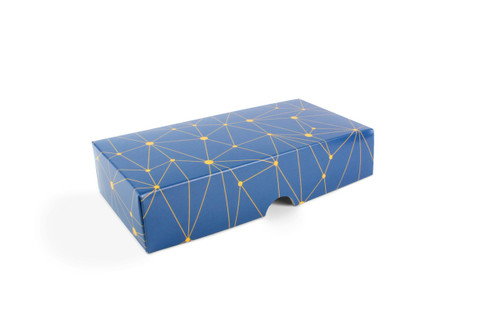8 Choc Geometric Blue and Yellow Print Point to Point Lid