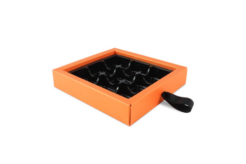 9 Choc Pearlescent Orange Ribbon Drawer Buffer Base