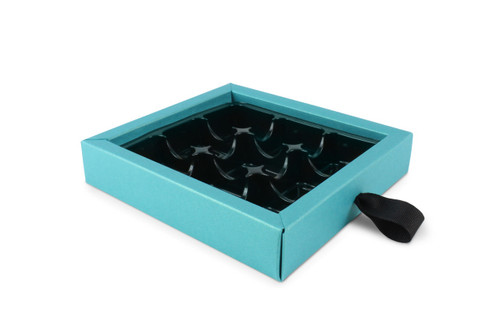 9 Choc Pearlescent Turquoise Ribbon Drawer Buffer Base
