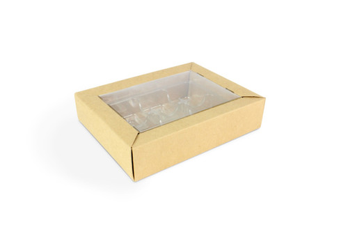 6 Choc Eco Buffer Box with Rpet Lid and Vac Tray