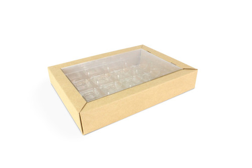 12 Choc Eco Buffer Box with Rpet Lid and Vac Tray