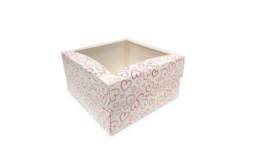 Large Light Heart Cake Box for Transporting and Presenting Large Cakes