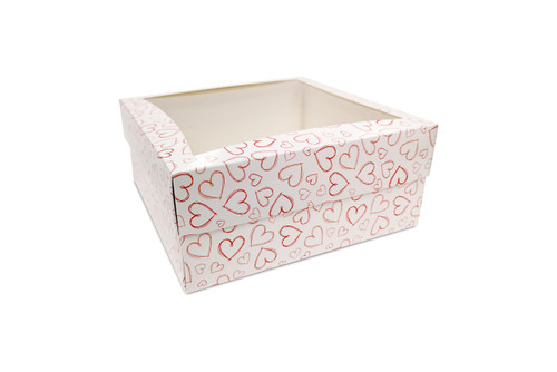 Extra Large Light Heart Cake Box for Valentines Bakery Products