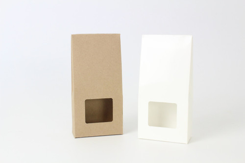 Slim Tapered Window Carton White| MeridianSP
