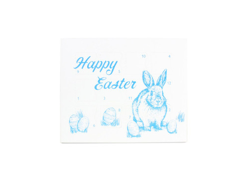 Easter Bunny Blue 12 Day Easter Countdown Calendar for Chocolates or Wax Melts