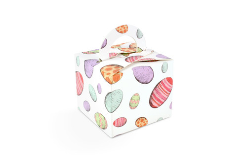 125g Handle Gift Boxes in Eggs Upon Eggs Easter Pattern