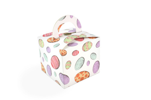 250g Handle Gift Boxes in Eggs Upon Eggs Easter Pattern