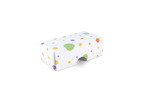 2 Choc Fold-up Lid in Spots and Dots Design