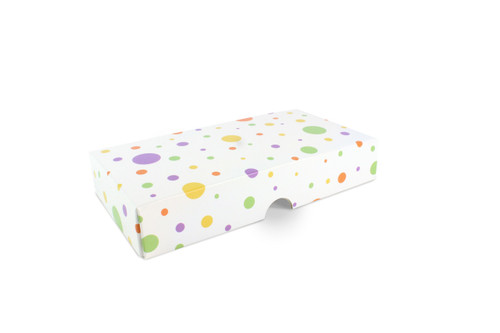 8 Choc Fold-up Lid in Spots and Dots Design
