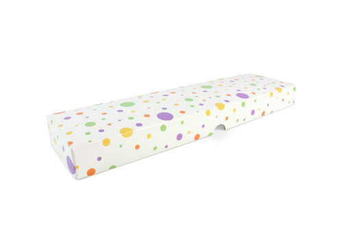 16 Choc Fold-up Lid in Spots and Dots Design