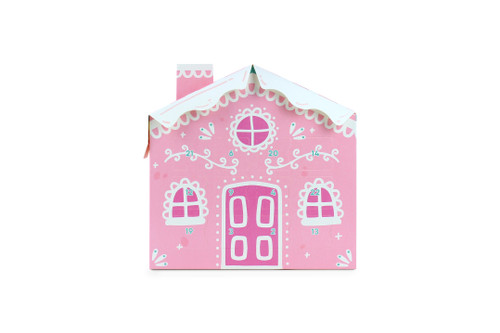 24 Day Pink Candy Cane House Advent    MeridianSP