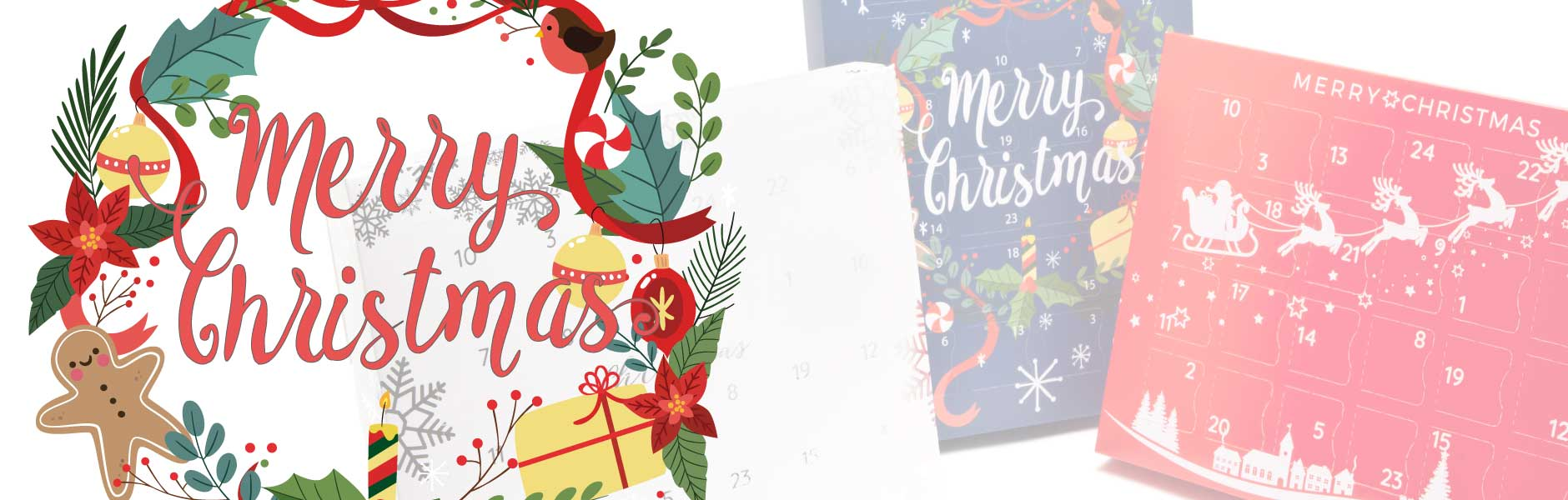 3 brand new designs of fill-it-yourself advent calendar gift boxes just for you