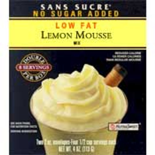 Sans Sucre Sugar Free Low Fat Lemon Mousse Mix 3 oz Box