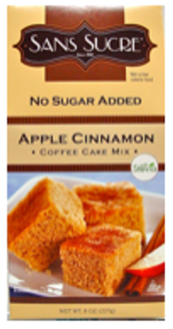 APPLE CINNAMON COFFEE CAKE MIX, 8 oz, Sans Sucre, w/Stevia, Kosher cRc-D