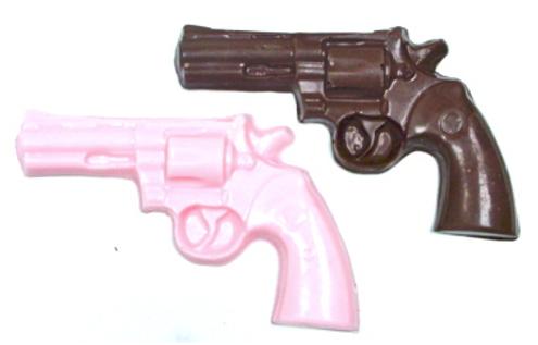 Sugar free chocolate poured revolvers