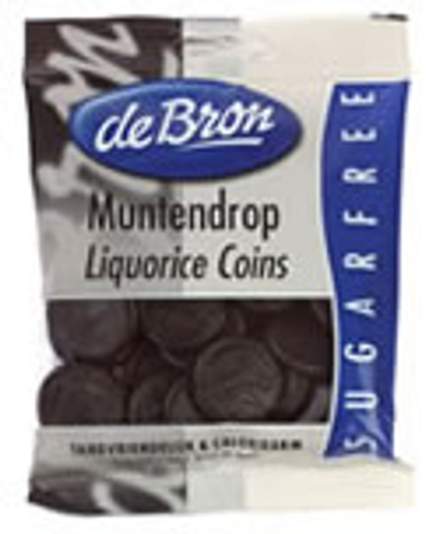 deBron's Muntendrop Liqorice Coins, Sugar-Free Made in Holland 3.53 oz