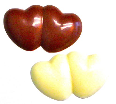 Sugar free hand poured chocolate hearts