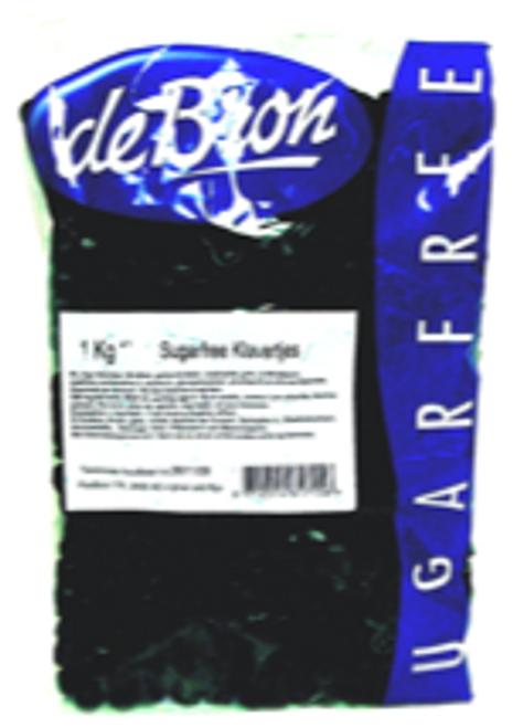 deBron Salt Licorice, Zoute Klavertjes, Sugar Free, Gluten Free, Gelatine Free, 2.2 lb (1 kilo)