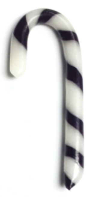 """Diabeticfriendly's Sugar Free LICORICE Candy Cane  5"""" -  Handmade in USA, Uses isomalt, Individually wrapped, Set of 20"""