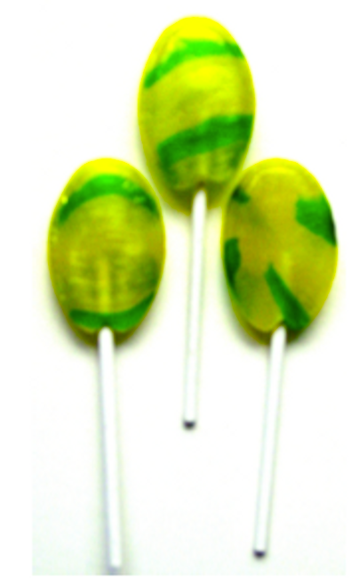 Diabeticfriendly®'s Sugar Free Lollipops, Banana flavored, Ind Wrapped, Kosher Kof K Parve 50 per pound