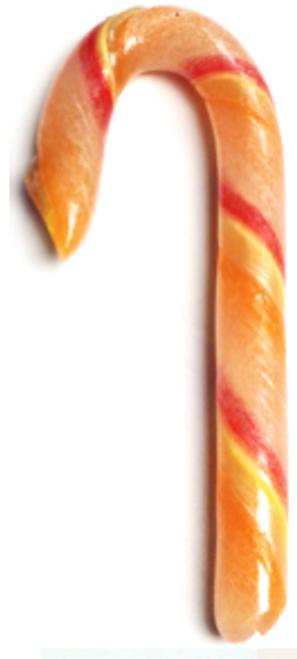 "Diabeticfriendly's Sugar Free TUTTI FRUITI Candy Cane 5"" - Handmade in USA, SINGLE CANE, Uses isomalt, Individually wrapped, Set of 20"
