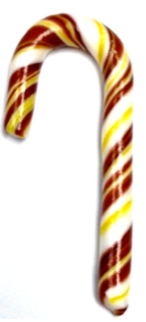"Diabeticfriendly's Sugar Free CHOCOLATE & BANANA Candy Cane  5"" -  Handmade in USA, Uses isomalt, Individually wrapped, Set of 20"