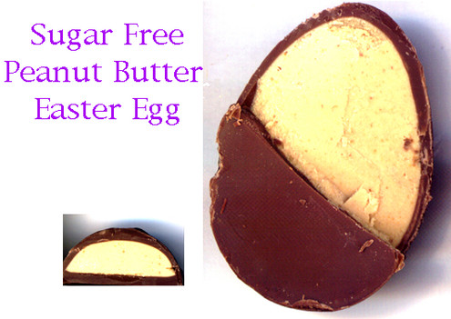 Sugar Free Milk Chocolate Egg - Peanut Butter Filled  (small) 1 oz
