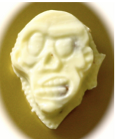 White Chocolate Sugar Free Zombie Head with Bacon Bits Infused  .4 oz each, pack of 8