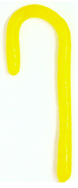 """Diabeticfriendly's Sugar Free SOUR LEMON """"the Solids"""" Candy Cane 5"""" -  Handmade in USA, SINGLE CANE, Uses isomalt, Individually wrapped, perfect to hang on tree.  Set of 20"""