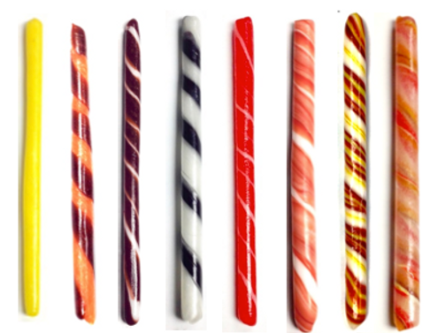 sugar free old fashioned stick candy, individually wrapped
