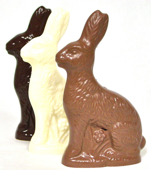 Diabeticfriendly® Sugar Free Chocolate Easter Sitting Rabbit 6 inch High, 8 oz
