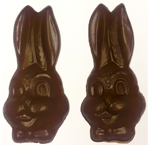 Diabeticfriendly's Sugar Free Chocolate Rabbit Head, Set of 2, 6+ inches Tall