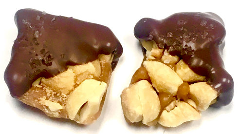 Sugar Free Chocolate Covered Peanut Brittle with Sea Salt, 8 oz