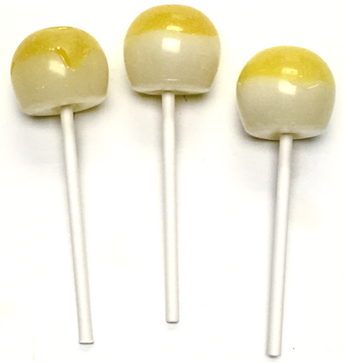 Diabeticfriendly's Sugar Free, Hard Candy, CAP POPS - HONEY LEMON, .6 oz,  Individually Wrapped, Set of 6, Handcrafted in Ohio