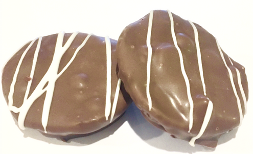 Sugar Free Chocolate Peanut Caramel TOFFEE or BRITTLE Patties, Handmade (TURTLES)