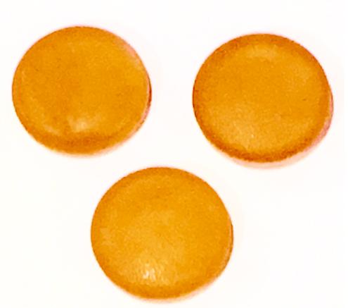 sugar free caramel hard candy disks