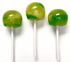 Diabeticfriendly's Sugar Free, Hard Candy, CAP POPS - SOUR GREEN APPLE & SOUR LEMON