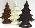 6 inch Tall Christmas Tree, Sugar Free Solid Chocolate, 3-D, (about 5.5 oz) Handmade, Individually Wrapped