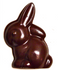 3 inch Sitting Easter Rabbit Sugar Free Chocolate, Individually Wrapped, 1 oz. Set of 3