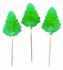 Sugar Free Christmas Tree Lollipops, Lime Hard Candy, Set of 3