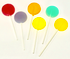 Assorted Fruits Isomalt Lollipops (10 pops) Individually Wrapped